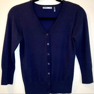 ModCloth MAK Button up Cardigan in Navy - XL
